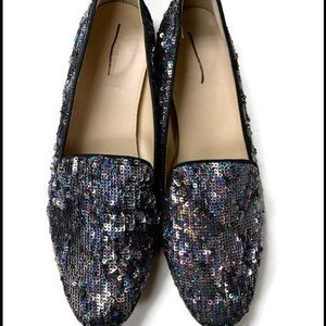 J Crew Collection Sequin Darby Loafers Flats NEW